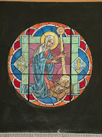 stained glass Nativity, Library of Congress Prints and Photographs Division. reproduction number, e.g., LC-USZC4-1234