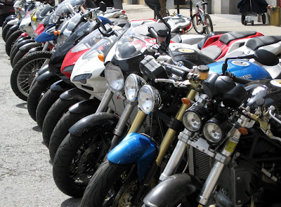 Motorcycles Triumph and Ducati