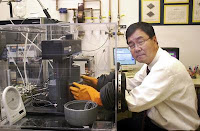 Caption: UCLA Engineering's Kang Wang in his lab. Credit: UCLA Engineering, Usage Restrictions: Permission to use photo is granted to all news media organizations in context with story or caption explaining grant.
