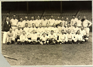 New York Yankees baseball team posed, Credit Line: Library of Congress, Prints & Photographs Division, [reproduction number, LC-USZ62-97851]