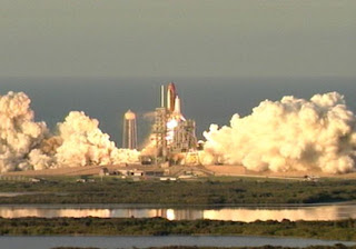 Space Shuttle Atlantis lifts off on mission STS-117. Image credit: NASA.