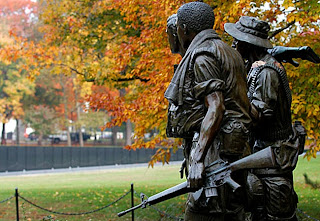 Veterans Day Three Servicemen Statue, Department of Defense