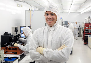 Hawkins and his team worked in one of BYU's dust-free clean rooms