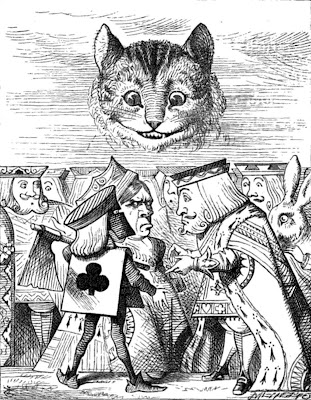 Alice's Adventures in Wonderland Cheshire Cat and Queen of Hearts Clip Art