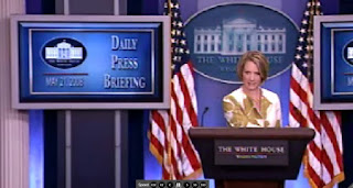White House Press Briefing by Dana Perino 05/30/08 VIDEO, PODCAST