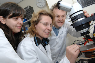 University of Warwick researchers Ioana Dumitrescu, Professor Julie Macpherson, Professor Patrick Unwin