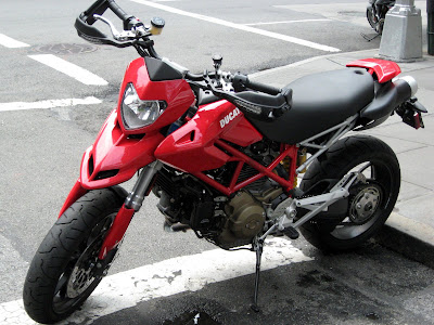 Red Ducati Motorcycle Dirt bike