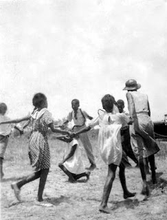 Children playing singing games in Eatonville, Florida in 1935