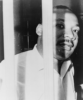 Dr. Martin Luther King Jr., behind bars in jail in St. Augustine, Florida