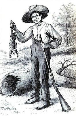 Huckleberry Finn Hunting clip art