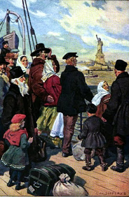 IMMIGRANTS' FIRST VIEW OF AMERICA