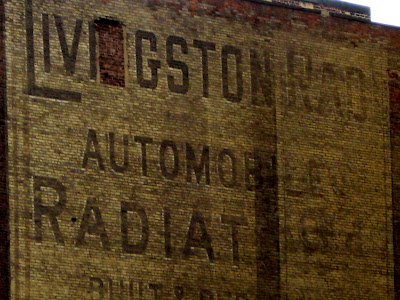 Vintage Wall Sign Livingston Automobile Radiators