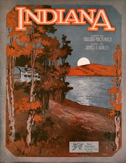 Back Home Again in Indiana 1917 sheet music cover