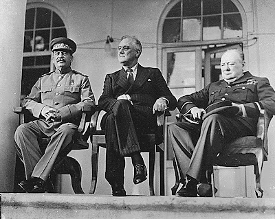 Franklin D. Roosevelt, Joseph Stalin, Winston Churchill