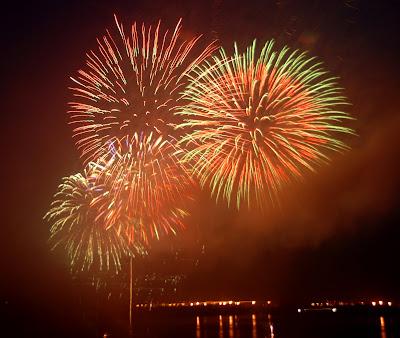 July 4th Fireworks light up the night sky