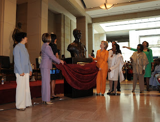 Speaker Pelosi unveiling the bust of Sojourner Truth in the Capitol