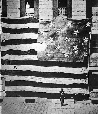 Star Spangled Banner Flag that flew over Fort McHenry in 1814 clipart