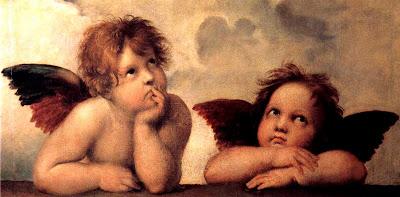 Raphael's cherubs angels Sistine Madonna