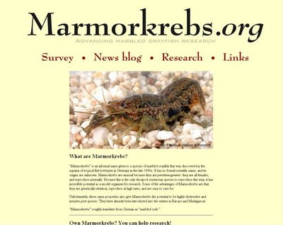 Marmorkrebs.org home page