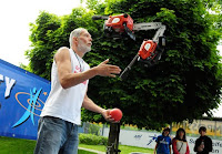 Juggling chainsaws