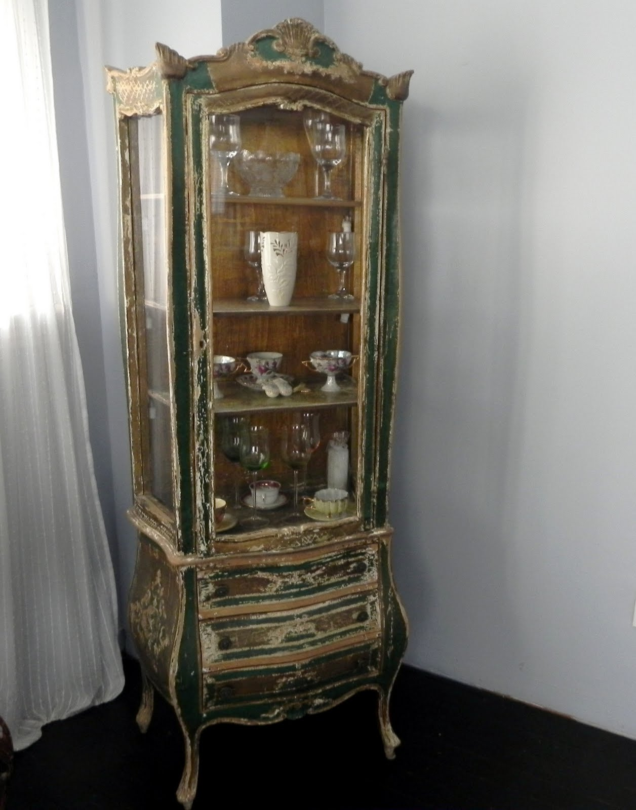This is my beautiful french antique curio cabinet ... - Sheer - Antique  French - Antique French Curio Cabinet Antique Furniture