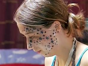 Two gun kitten tattoo gone wrong stars and gripes forever for Face tattoos gone wrong
