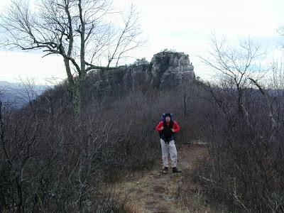 Sam at Big Schloss, Wolf Gap Nat'l Rec. Area, VA; Jan. 2002
