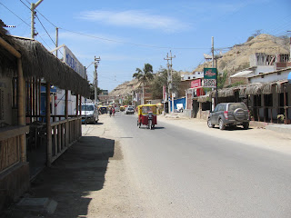 Downtown Mancora before the busy season