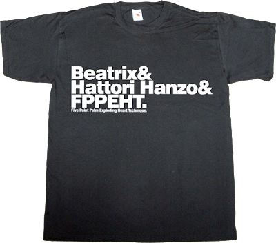 kill bill movie helvetica t-shirt ephemeral-t-shirts