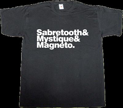 x-men movie helvetica t-shirt ephemeral-t-shirts