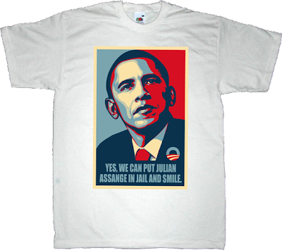 obama Julian Assange wikileaks war internet 2.0 t-shirt ephemeral-t-shirts