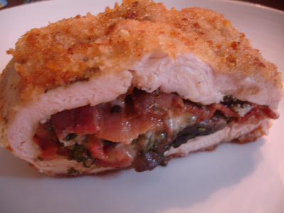 Mushroom, Bacon & Cheese Stuffed Chicken Breast