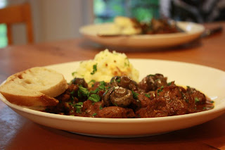 Beef Bourguignon Inspired Turkey Stew