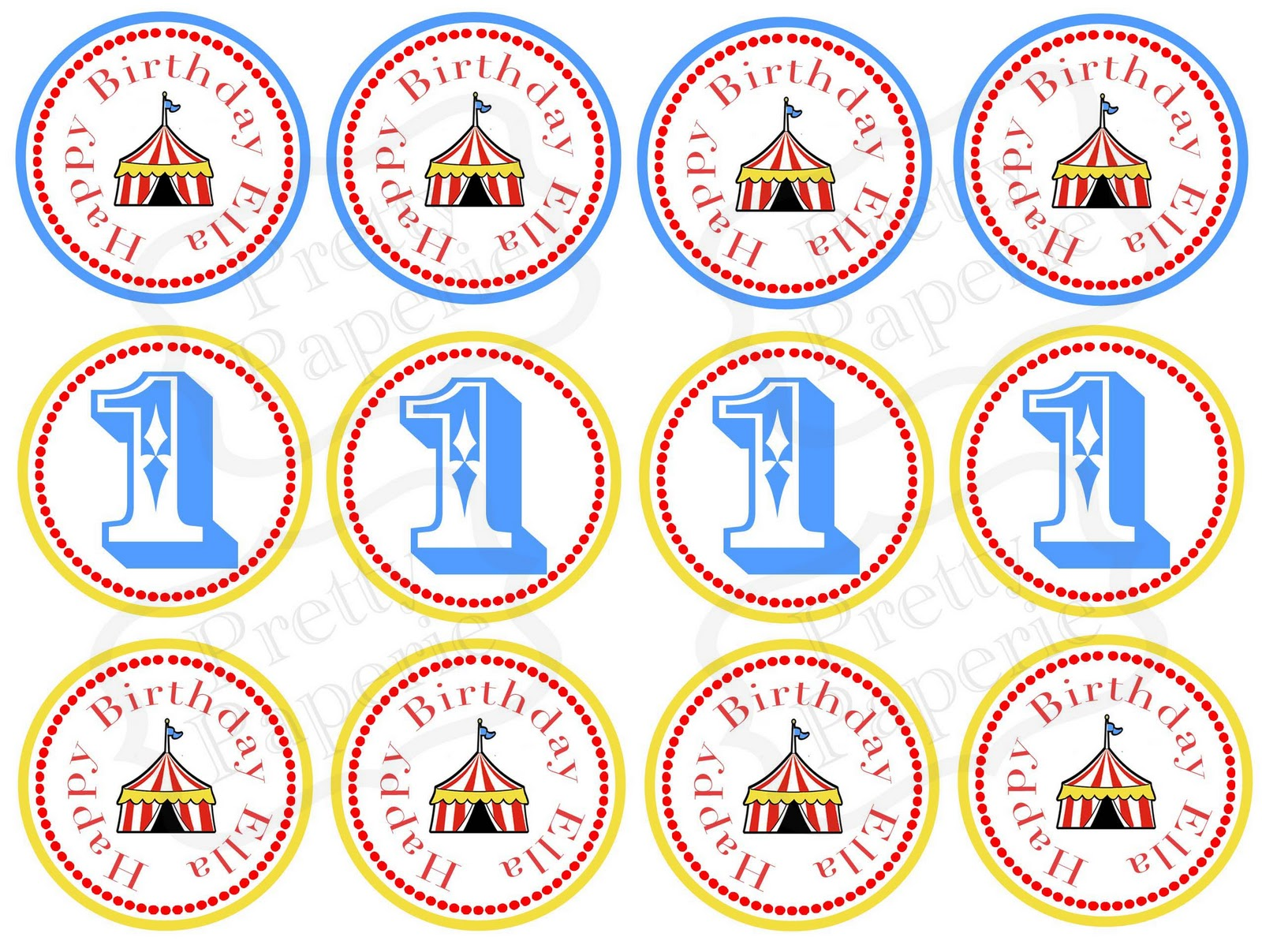 Recent client circus theme party printables at home for Circus printables
