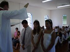 Culto de Páscoa e Confirmação em Anahy!