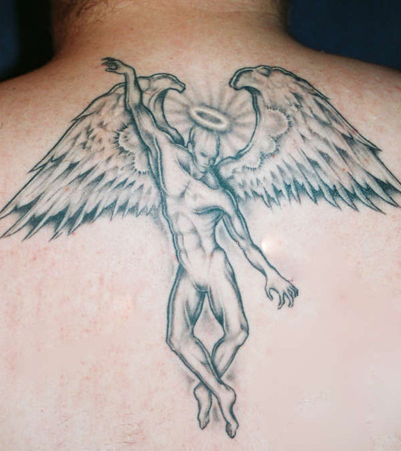 Male Angel Tattoos. male angel tattoo. butterfly
