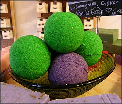 green apple bath bombs