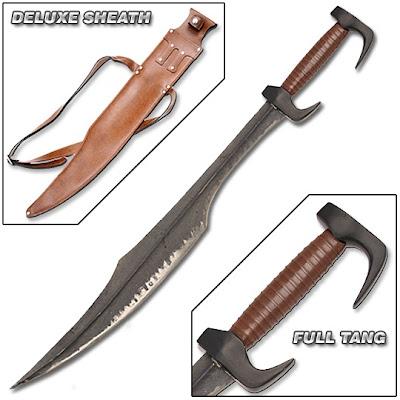 Deluxe King Leonidas 300 spartan sword replica