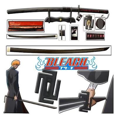 bleach zanpakutou kurosaki ichigo bankai sword replica musashi handmade swordsswords tensa zangetsu
