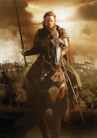 lord of the rings anduril sword of aragorn poster