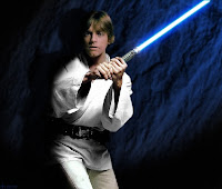 Luke Skywalker blue lightsaber