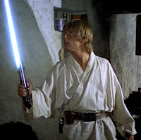 Luke Skywalker blue lightsaber Episode IV A New Hope