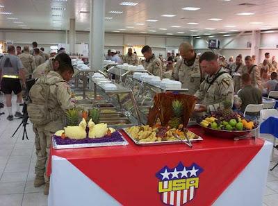 Yuk, Ngintip Isi Kantin Tentara Amerika di Irak