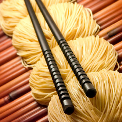 long noodles are eaten on New Year's Day in order to bring a long life ...