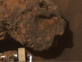 Meteorito Oileán Ruaidh en Marte