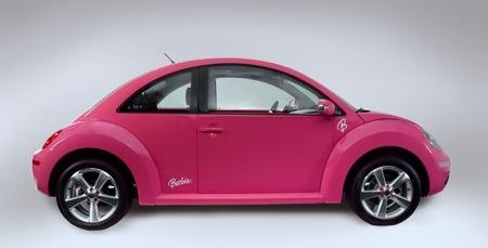 bright pink car