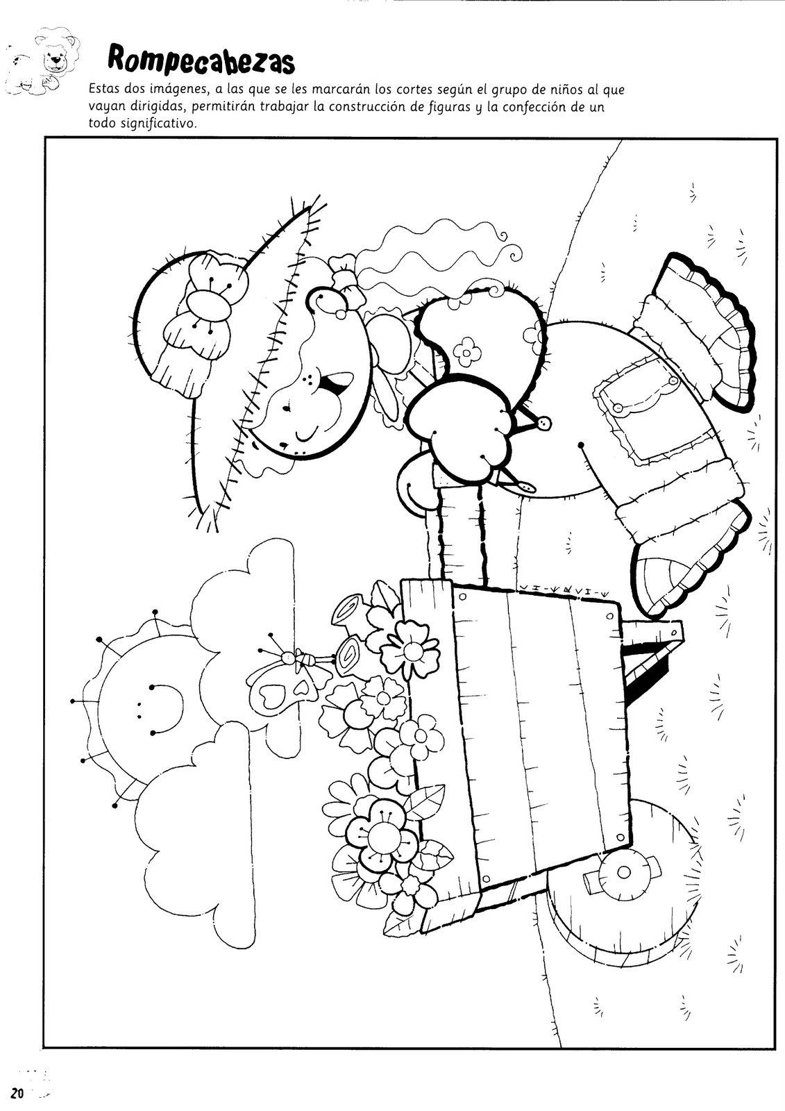 El rincon de la infancia: ♥ Dibujos para armar rompecabezas