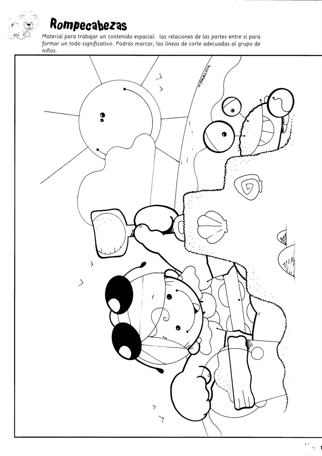 El rincon de la infancia: ♥ Dibujos para armar rompecabezas ♥