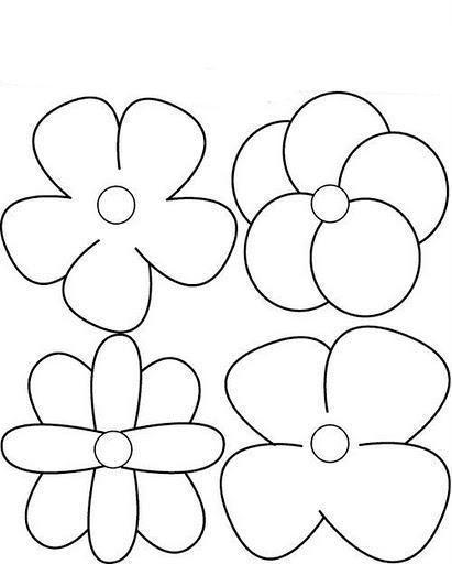 Flores 5 Petalos Pintar Imagui