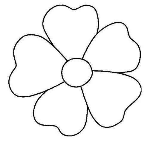 Cinco Petalos Dibujos De Flores Para Pintar Dibujos Para Colorear